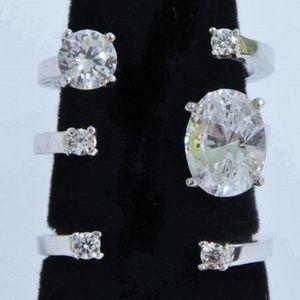 925 Blingy CZ  Unique Cuff Ring